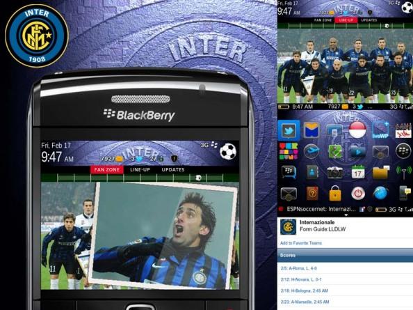 Inter Milan Theme for Blackberry