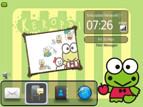Theme Lucu Boneka Kodok Keroppi Blackberry Free Tips Gadget Wallpaper